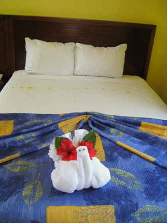 Towel art at the Sandos Caracol