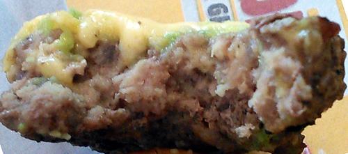 Closeup of beef patty